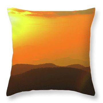 Smoky Sunset  Throw Pillow