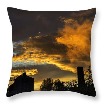 Throw Pillow featuring the photograph Smoky Sunset by Jeremy Lavender Photography