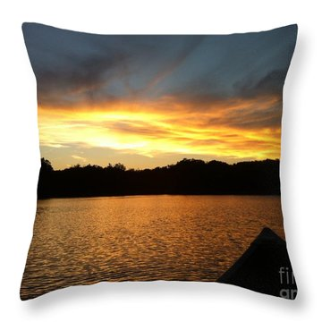 Smoldery Sunset Throw Pillow