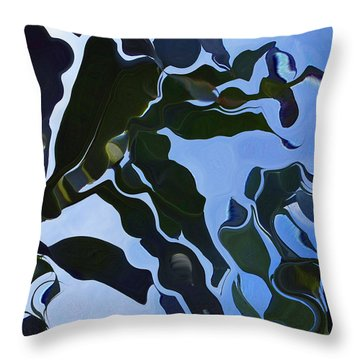 Smooth Bamboos Throw Pillow