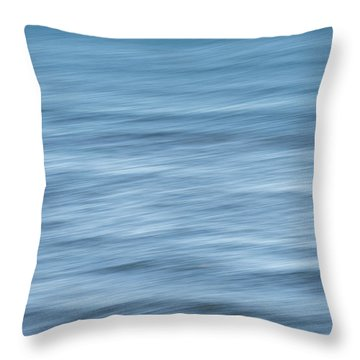 Smooth Blue Abstract Throw Pillow by Terry DeLuco