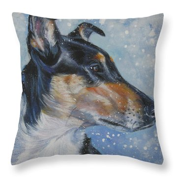 Smooth Collie Throw Pillow