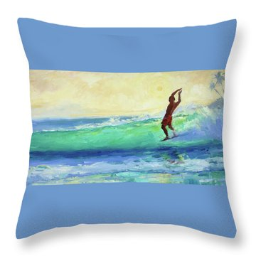 Smooth Glide Throw Pillow by Jenifer Prince