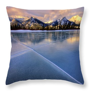 Smooth Ice Throw Pillow