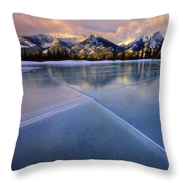 Smooth Ice Throw Pillow by Dan Jurak