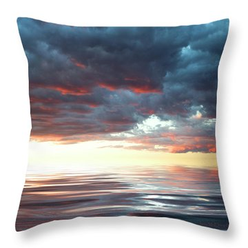 Smooth Sailing Throw Pillow by Jerry McElroy