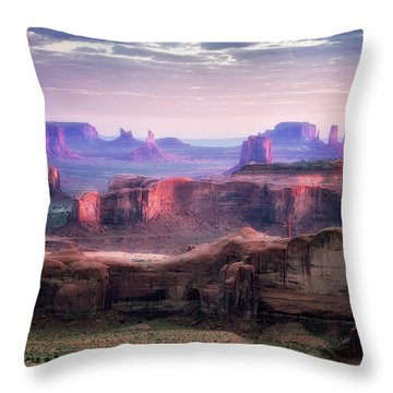Smooth Sunset Throw Pillow