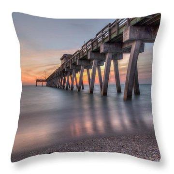 Smooth Sunset Throw Pillow