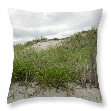 Smugglers Beach Dune South Yarmouth Cape Cod Massachusetts Throw Pillow by Michelle Wiarda