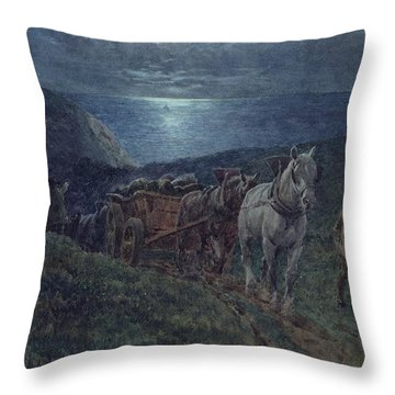 Smugglers Throw Pillow by William Barnes Wollen