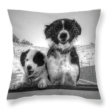 Smylie And Chica Throw Pillow