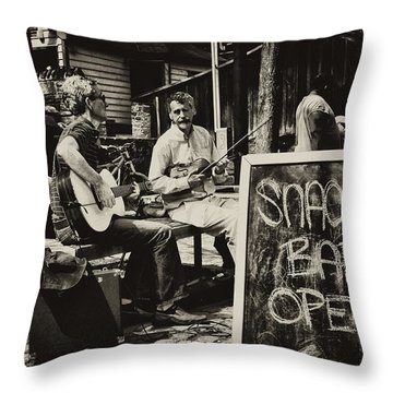 Snack Bar Open Throw Pillow by Bill Cannon