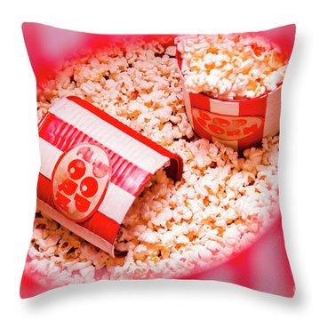 Snack Bar Pop Corn Throw Pillow