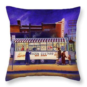Snack Wagon Throw Pillow