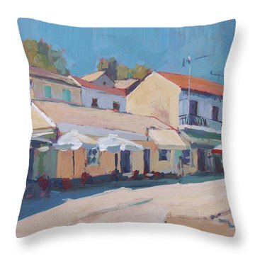 Snackbar Europe Loggos Throw Pillow
