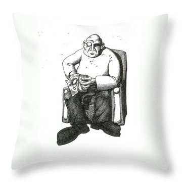 Snacks Throw Pillow by Tobey Anderson