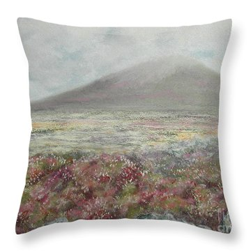 Snaefell Heather Throw Pillow