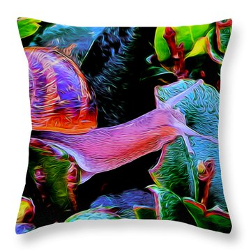 Snail 12 Throw Pillow
