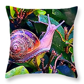 Snail 5 Throw Pillow