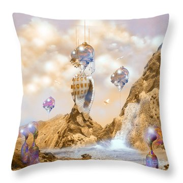Snail Shell City Throw Pillow