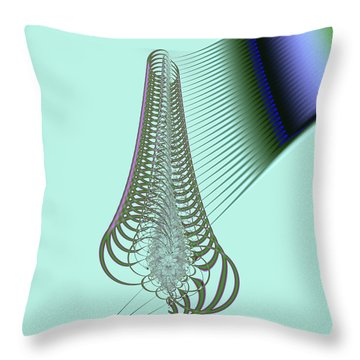 Throw Pillow featuring the digital art Snail Shell by Dragica  Micki Fortuna