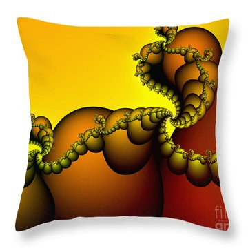Throw Pillow featuring the digital art Snails Convoy by Karin Kuhlmann