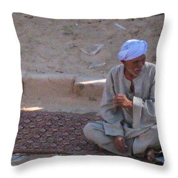 Snake Charmer Throw Pillow by John Malone