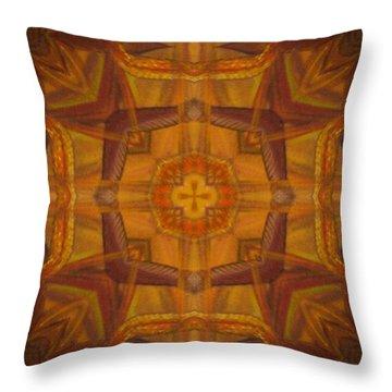 Snake Cross Throw Pillow by Maria Watt