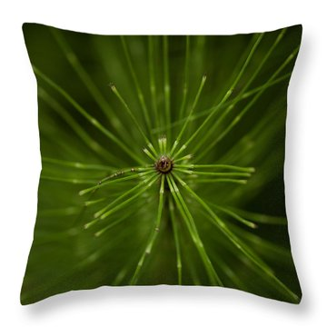 Snake Grass Throw Pillow
