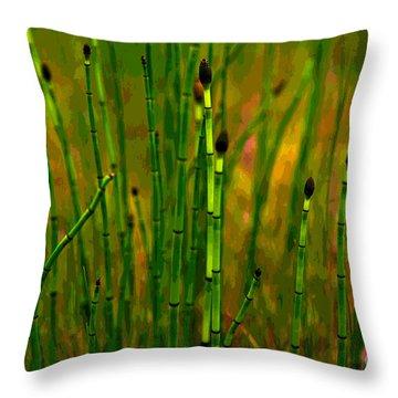 Snake Grass Throw Pillow