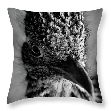 Snake Killer Black And White Throw Pillow