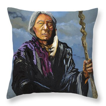 Snake Medicine Throw Pillow