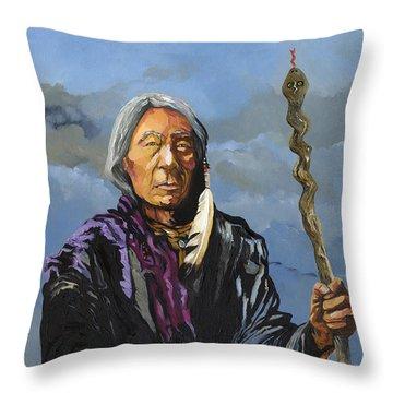 Snake Medicine Throw Pillow