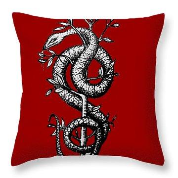 Snake Of Wisdom Throw Pillow