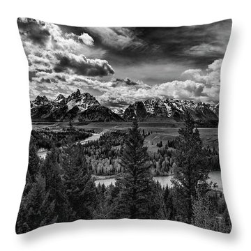 Snake River And Tetons Throw Pillow
