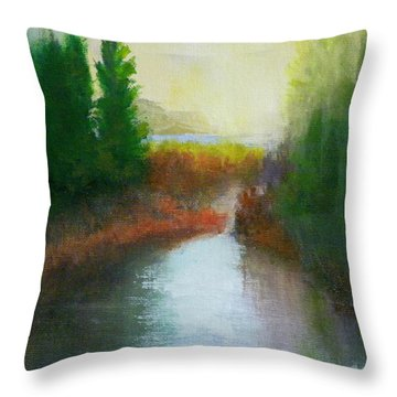 Snake River Canoe Trip Throw Pillow