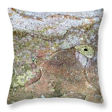 Snake Veneer Throw Pillow