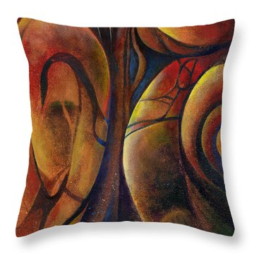 Snakes And Snails Throw Pillow by Andrew King
