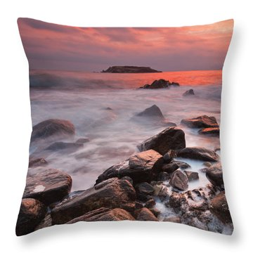 Snake's Island Throw Pillow by Evgeni Dinev