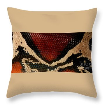 Snake's Scales Throw Pillow