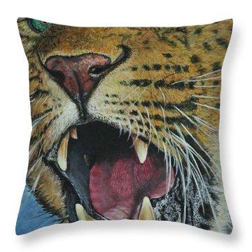 Snarl...amur Leopard Throw Pillow