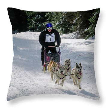 Sndd-1630 Flying Throw Pillow by Jan Davies