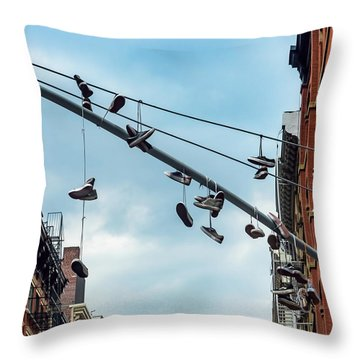 Sneakers From Up Above Throw Pillow