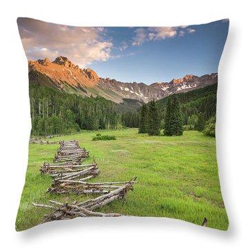 Sneffels Fence Horizontal Throw Pillow