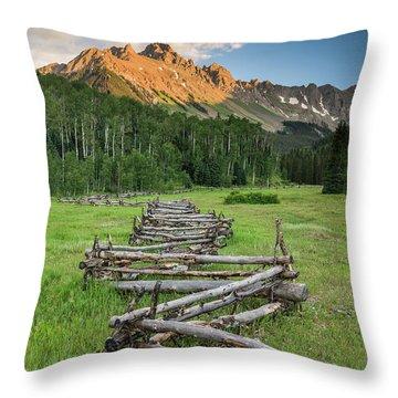 Sneffels Fence Vertical Throw Pillow