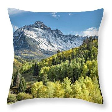 Sneffels In September Throw Pillow