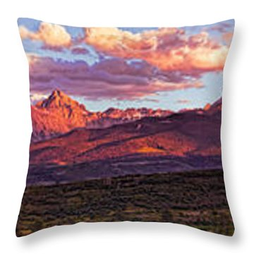 Sneffel's Range Sunset Throw Pillow