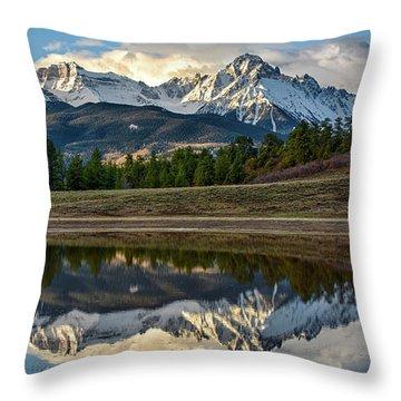 Sneffels Reflected Throw Pillow