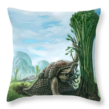 Snelephant Throw Pillow