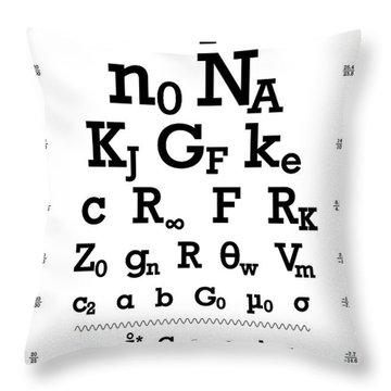 Eye Chart Throw Pillows